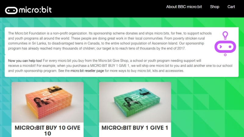 Announcing the micro:bit Give Shop