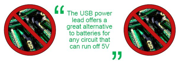 USB - The Easy Alternative to Batteries