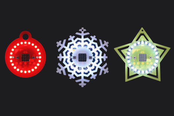 microbit ZIP Halo Christmas Baubles
