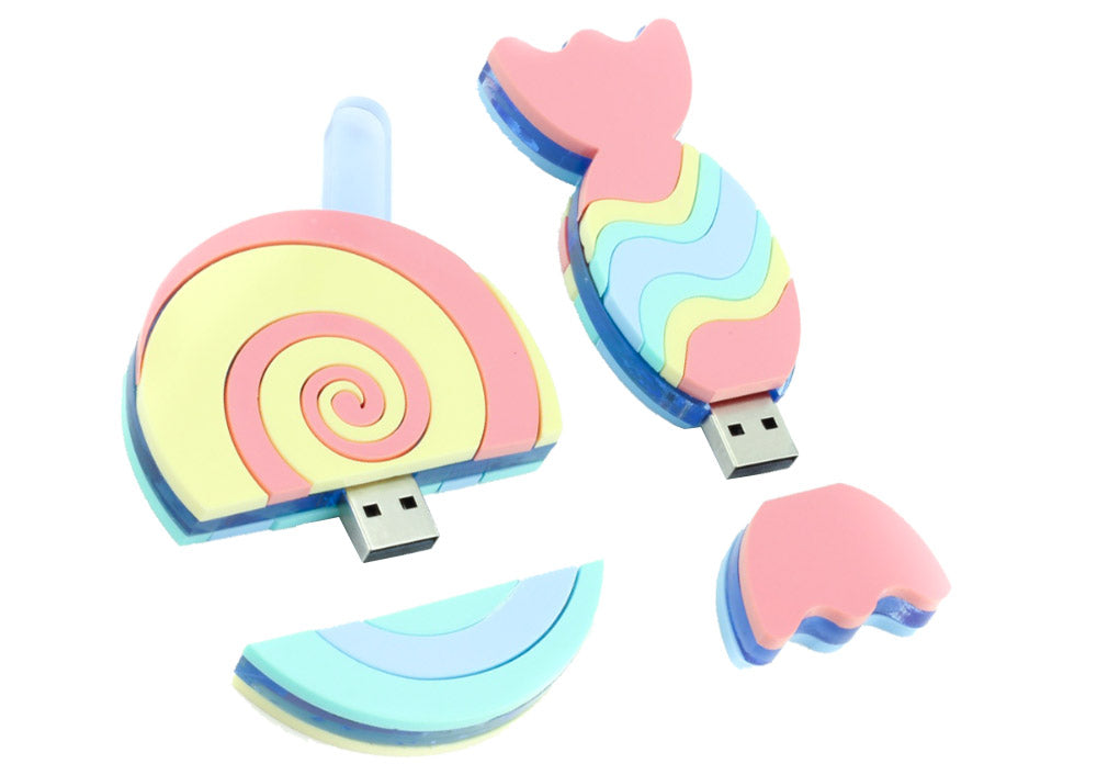 sweet pastel demonstration of a USB stick case made from multiple colours