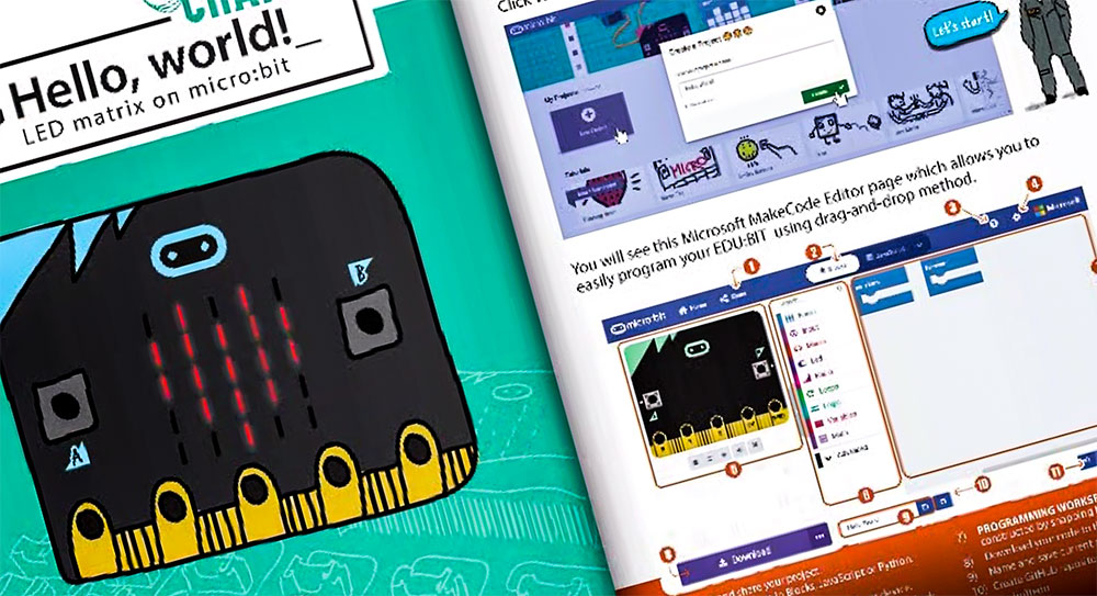 Edu:bit Training & Project Kit for micro:bit (without micro:bit) booklet