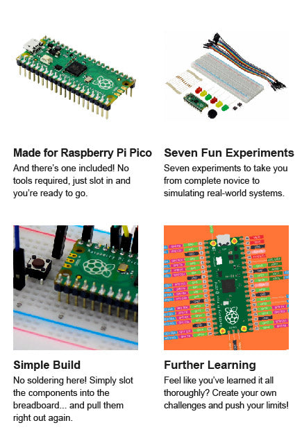 Kitronik Discovery Kit for Raspberry Pi Pico (Pico Included) left