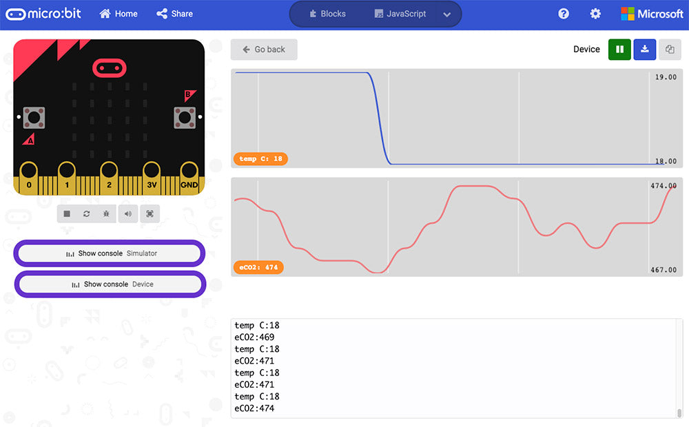 Monk Makes Air Quality Kit for micro:bit datalogging