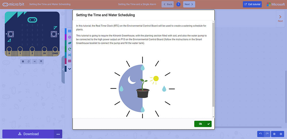 Online MakeCode Tutorials For The Greenhouse Kit E