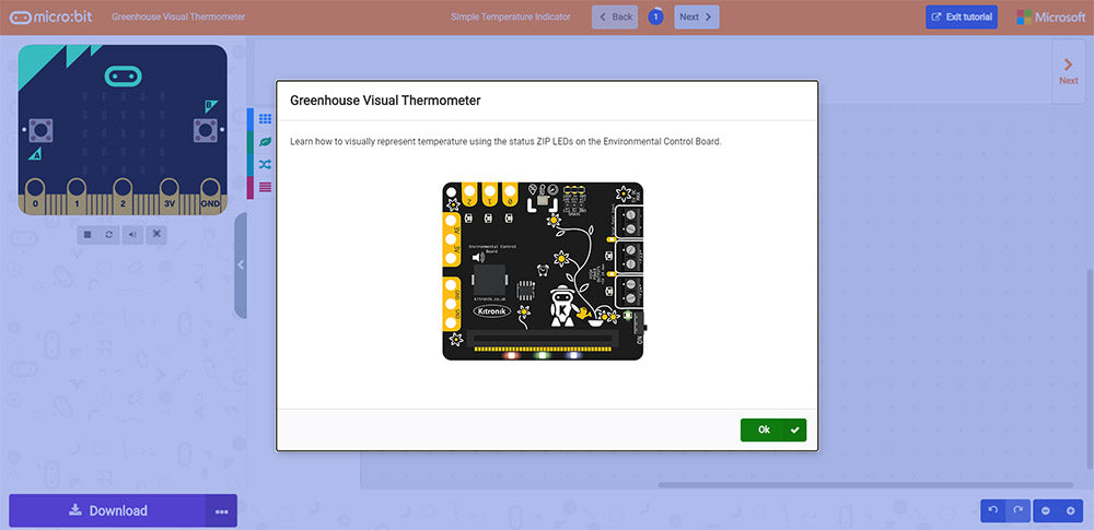 Online MakeCode Tutorials For The Greenhouse Kit A