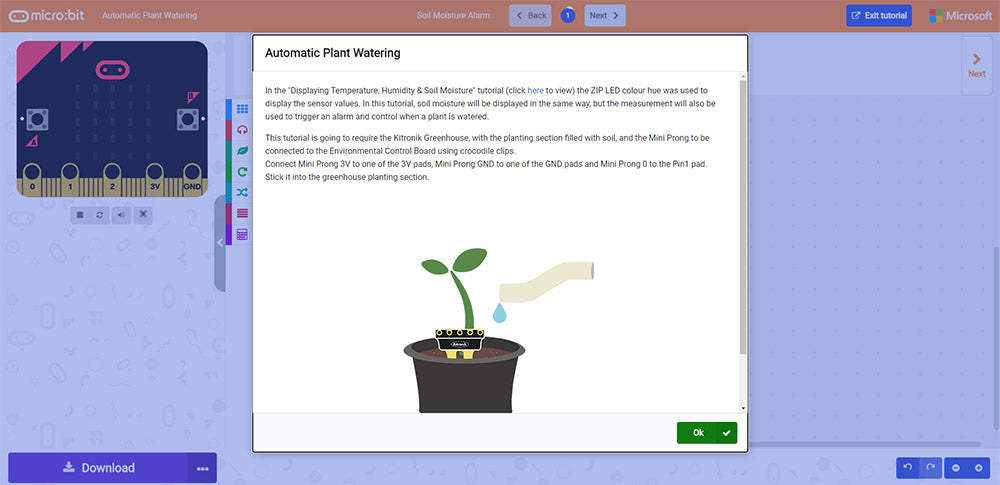 Online MakeCode Tutorials For The Greenhouse Kit