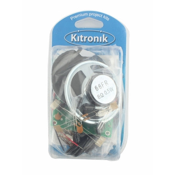 Kitronik Retail Pack - 3.5mm Jack - Deluxe Stereo Amplifier Kit