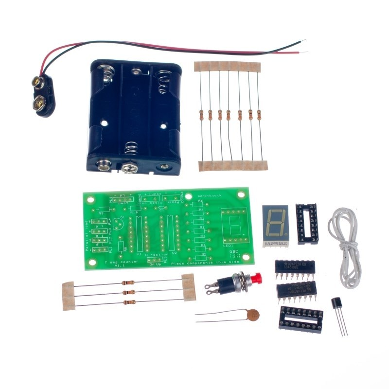 additional seven segment led display kit parts