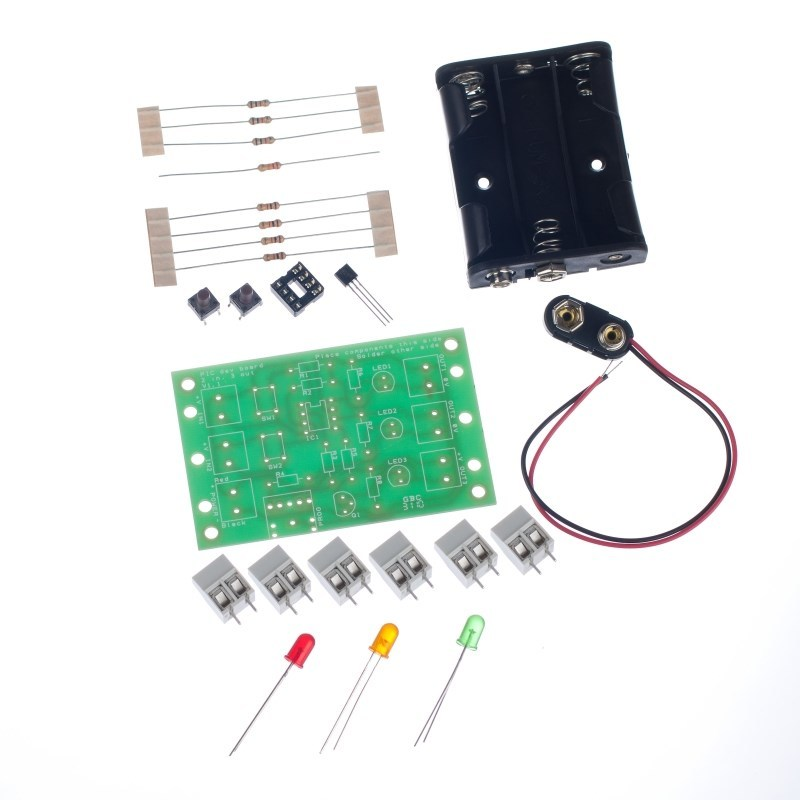 additional 8 pin pic development board parts