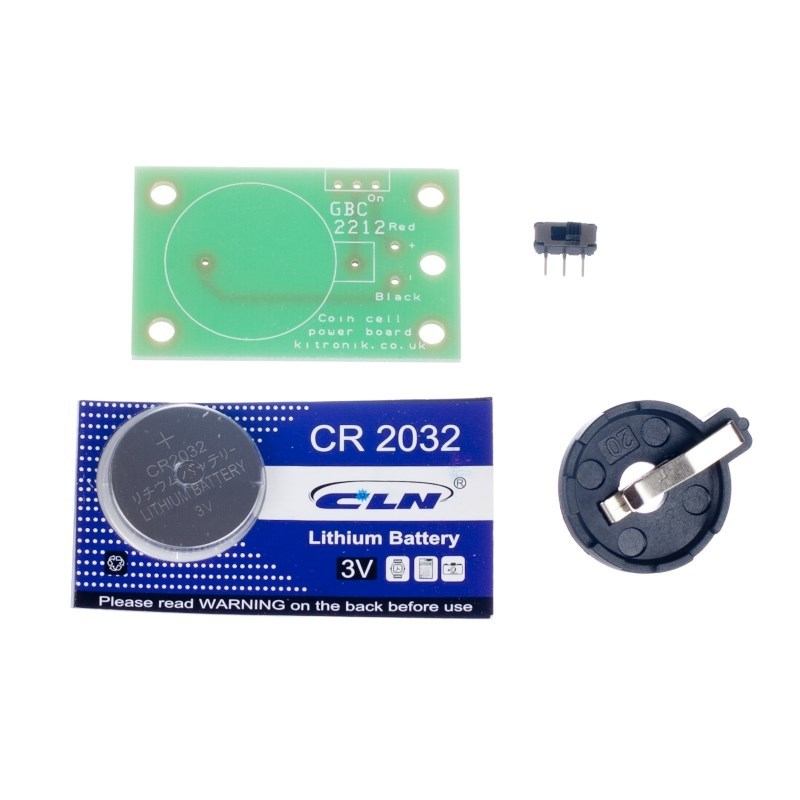 additional coin cell power board parts
