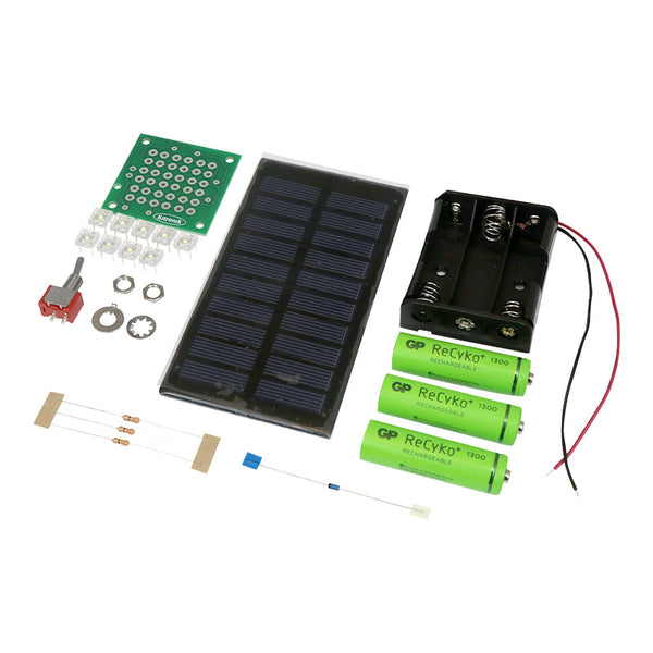 large solar power starter kit parts