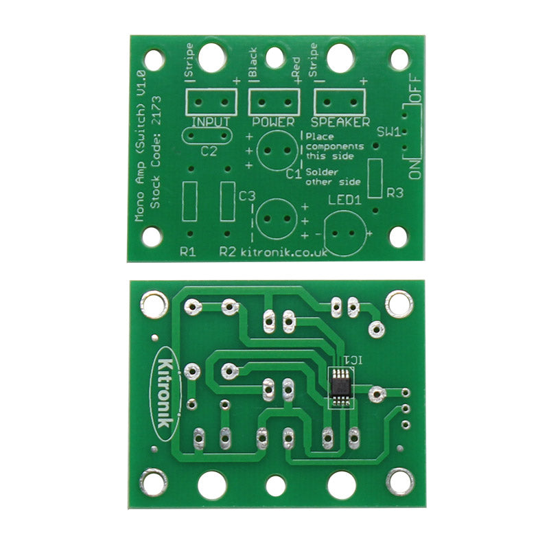 additional 3 mono amp kit power switch led pcb