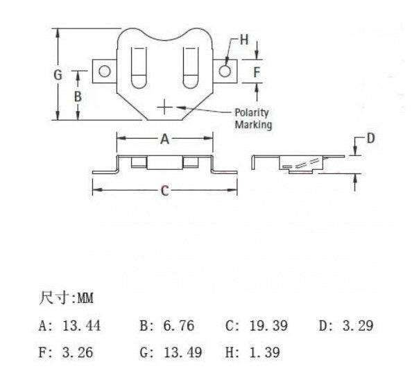 additional 12mm coin cell retainer diagram