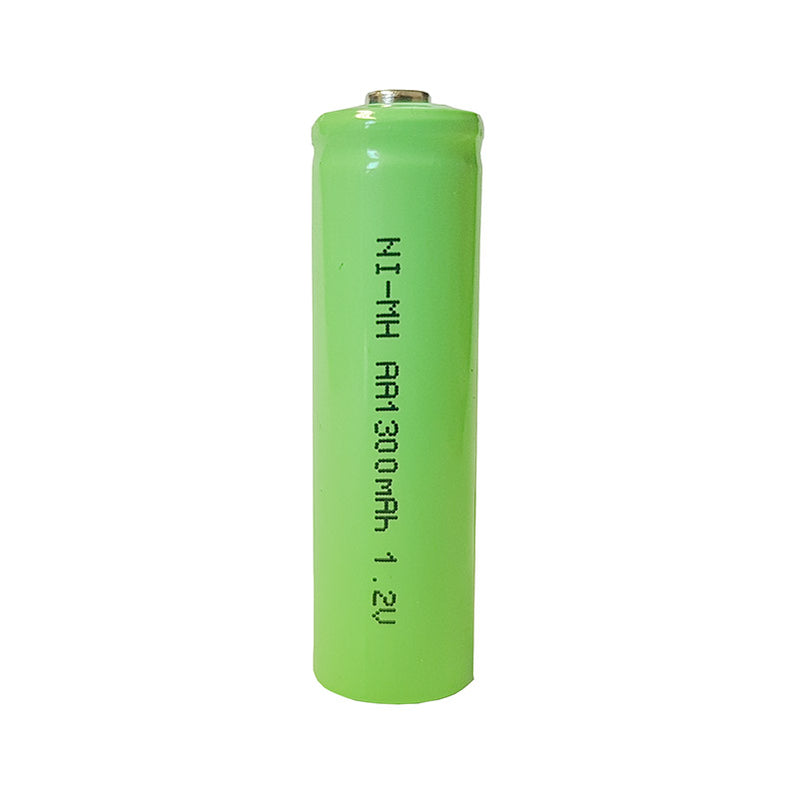 large aa ni mh rechargable battery 1300 mah nominal 1.2v