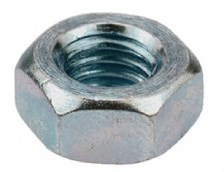 large m3 zinc hex nut