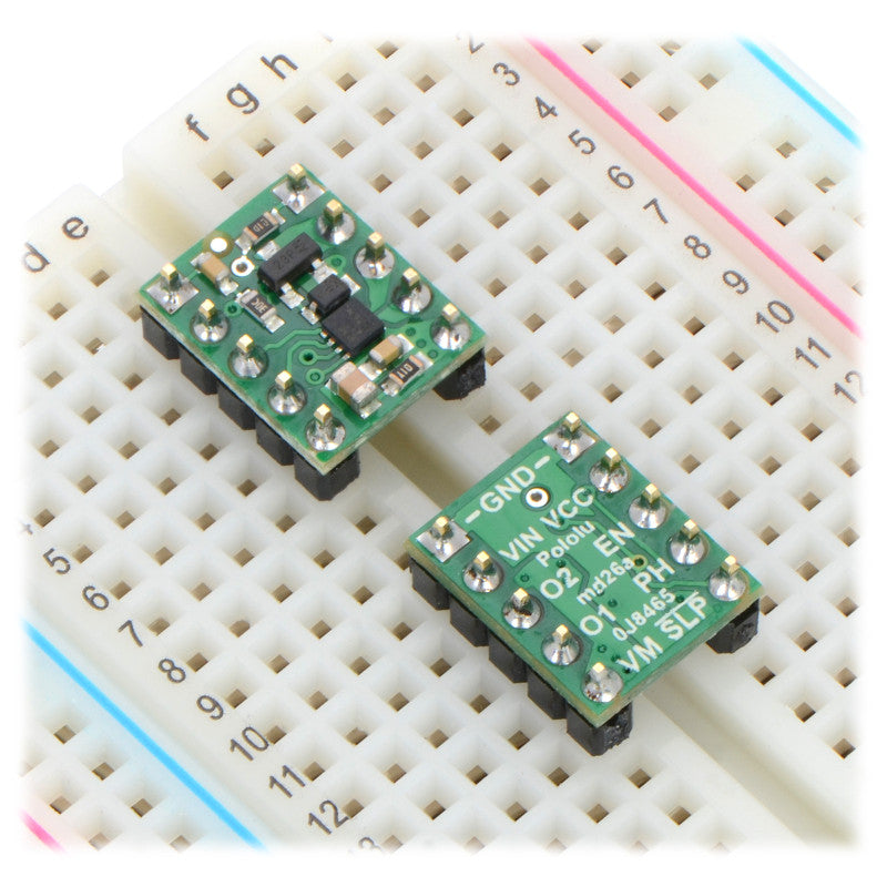 additional drv8838 single brushed dc motor driver carrier breadboard