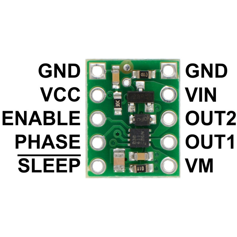 additional drv8838 single brushed dc motor driver carrier pins