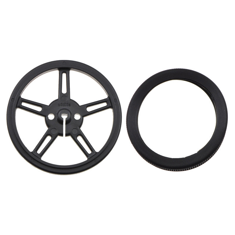 additional 60mm 8mm black wheels pair for 3mm d shaft