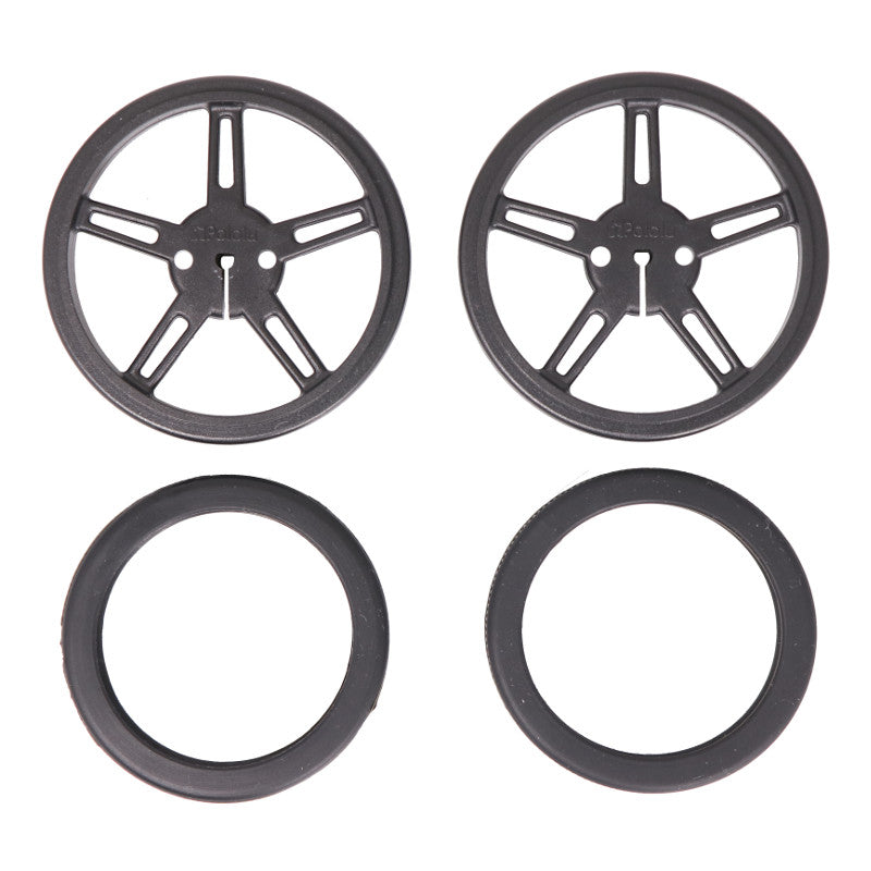 additional black wheels pair for 3mm d shaft tires