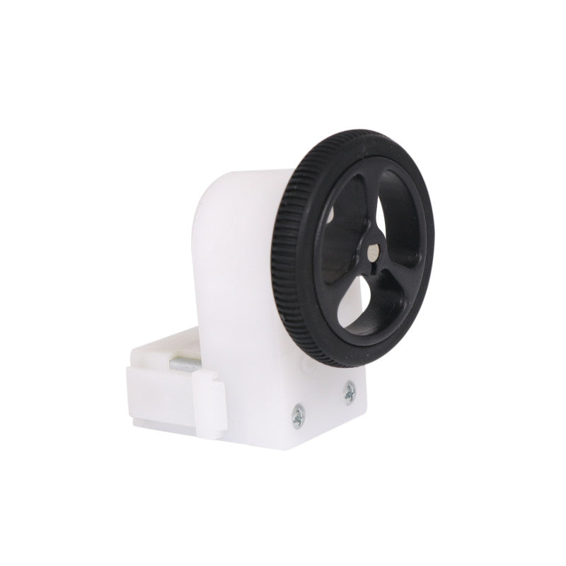 additional 32mm 7mm black wheels pair for 3mm d shaft plastic