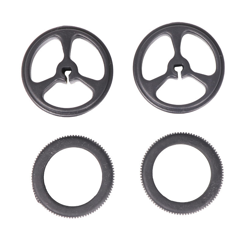 additional 32mm 7mm black wheels pair for 3mm d shaft tires