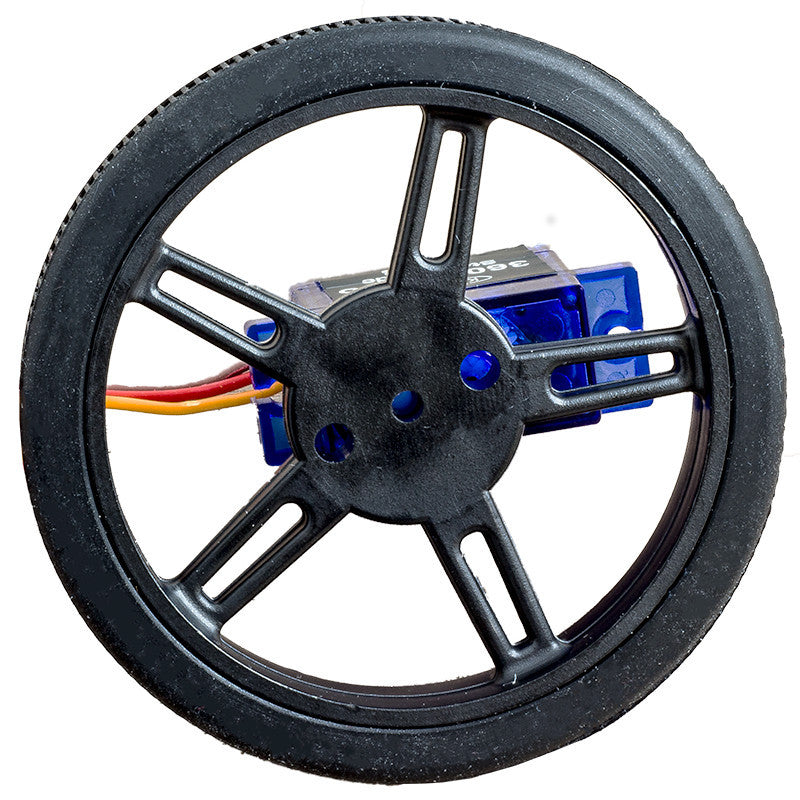 additional black wheel for FS90R micro servo 60mm 8mm servo