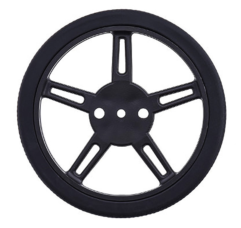 large black wheel for FS90R micro servo 60mm 8mm