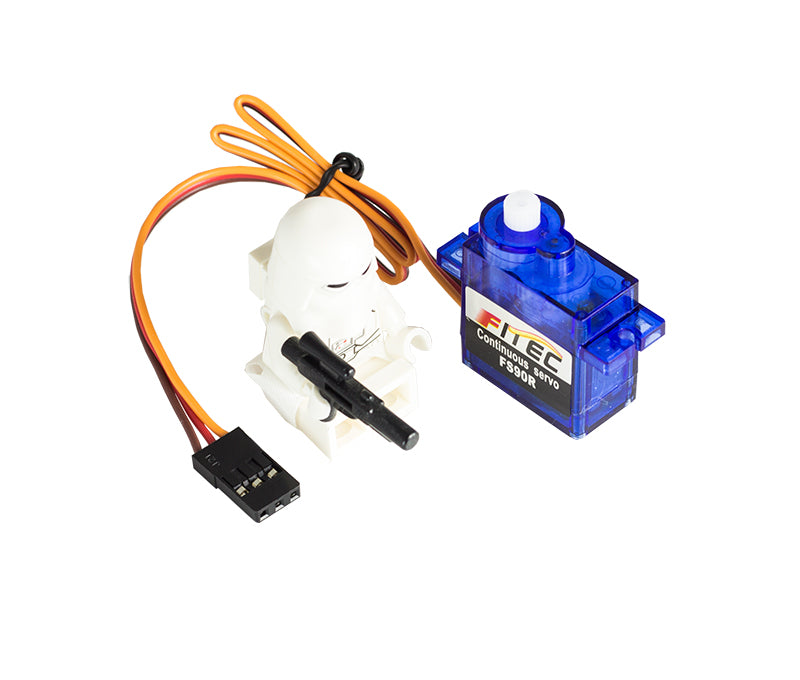 additional 2 feetech FS90R 360 degree continuous rotation servo scale