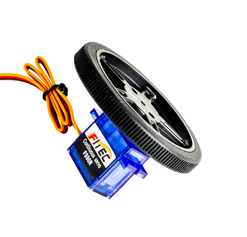 additional 3 feetech FS90R 360 degree continuous rotation servo wheel