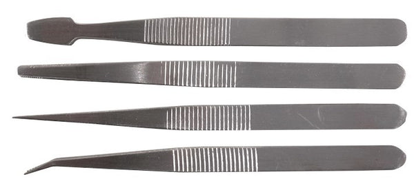 large 4 piece duratool tweezer set