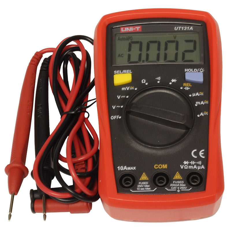 additional unit t ut 131a digital auto ranging palmsized multimeter leads