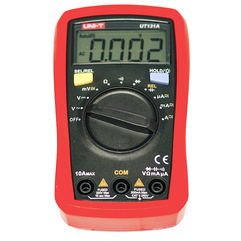 large unit t ut 131a digital auto ranging palmsized multimeter