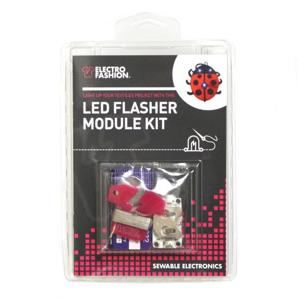 large e textiles flasher module front packaged