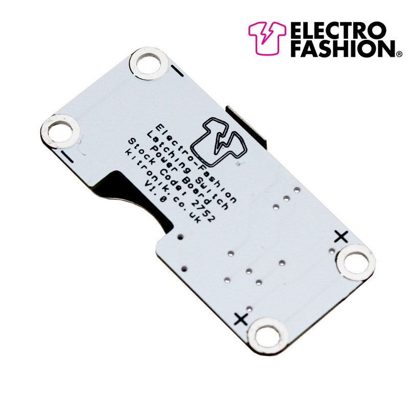 additional electro fashion latching switch coin cell holder back