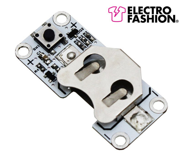 large electro fashion latching switch coin cell holder