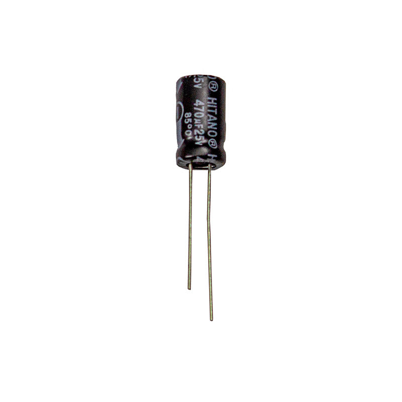 Capacitor, Electrolytic, 25V, 470uF, pack of 25