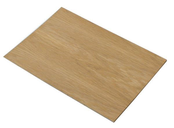 3.6mm Oak veneered plywood - 800mm x 600mm Sheet