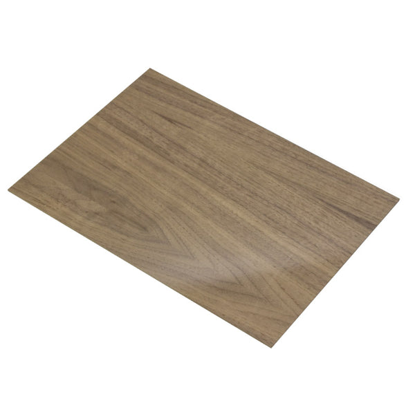 4mm American Black Walnut Veneered MDF 400mm x 300mm Sheet