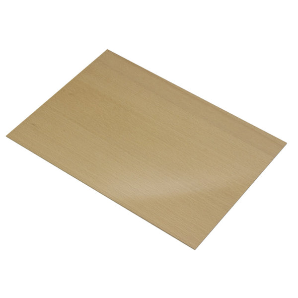 4mm Steamed Beech Veneered MDF 400mm x 300mm Sheet