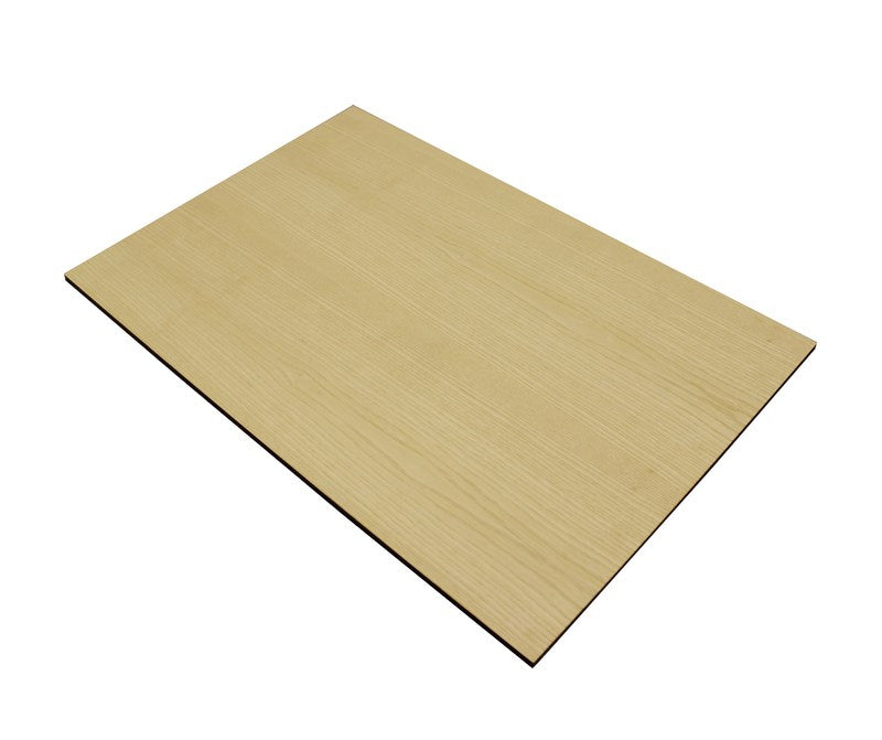 large 6mm ash veneer mdf 600mm x 400mm sheet
