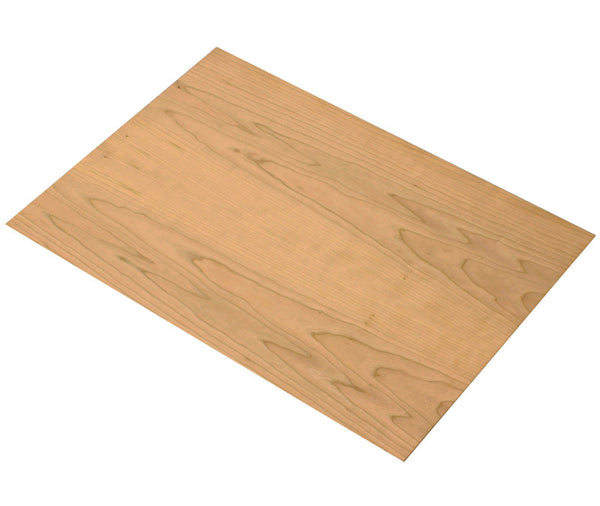 large 4mm cherry veneered mdf 600mm 400mm sheet