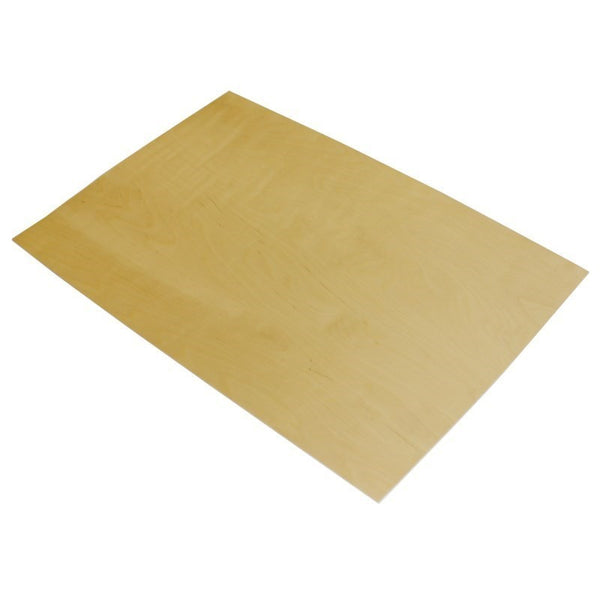 large 0.8mm birch laser plywood 400mm 300mm sheet (laserply)