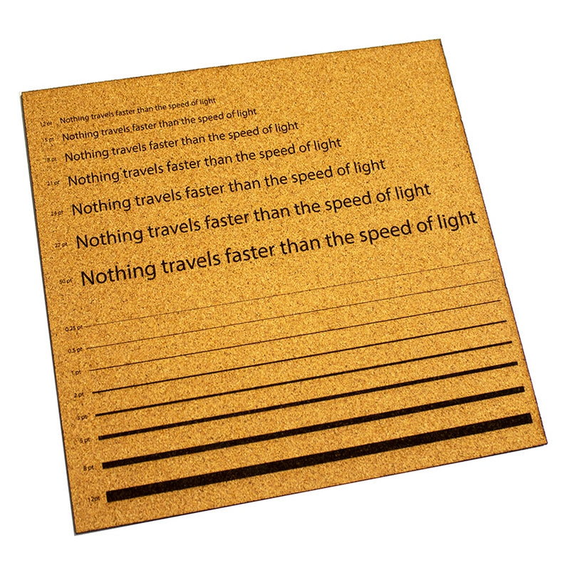 additional 3mm laser cork 600mm 400mm sheet etch