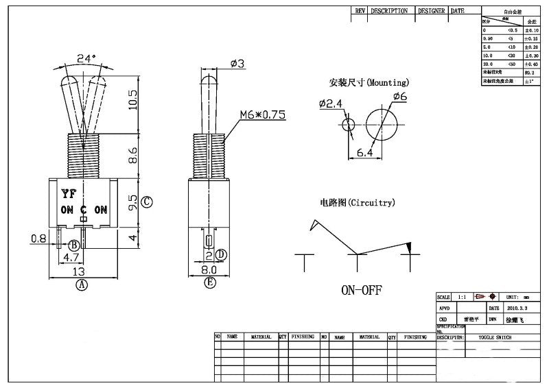 additional spst toggle switch
