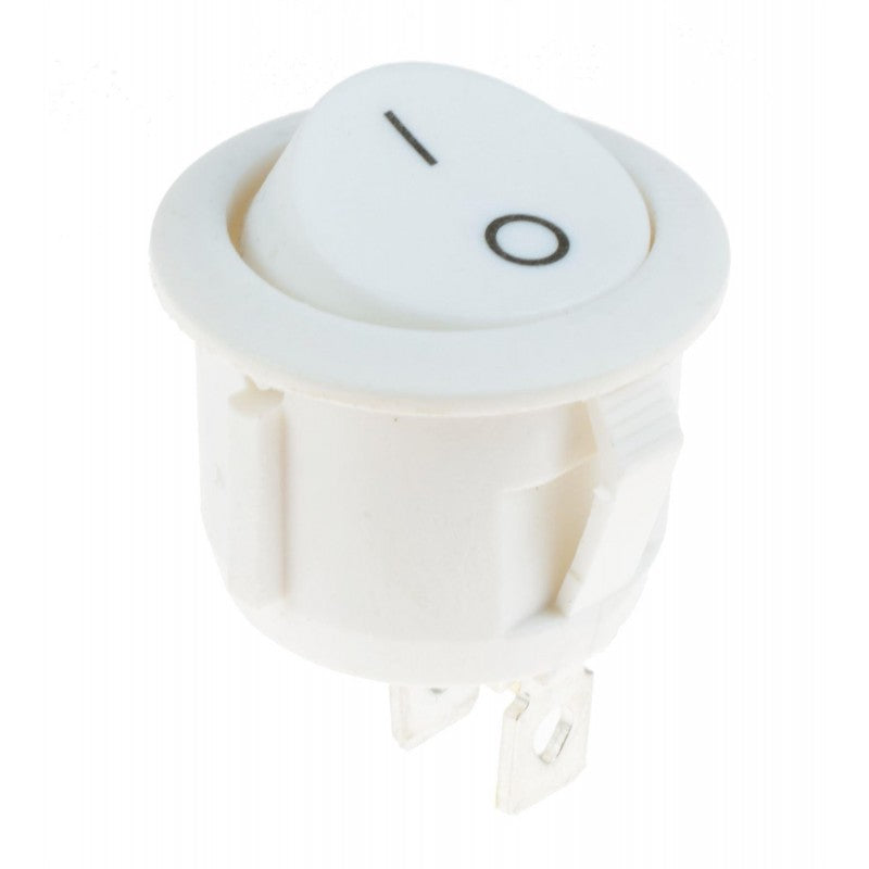 large round white rocker switch spst on off snap in 10 pack