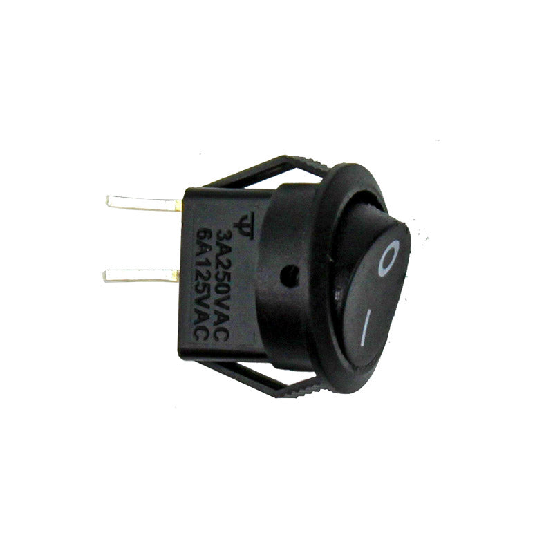 additional miniature round black on off switch jst rocker spst snap in 10 pack