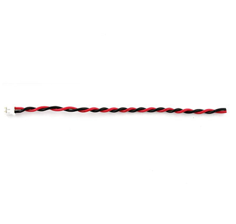 large twisted jst black red lead