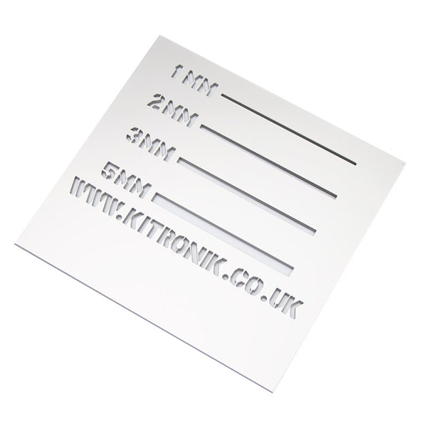 Silver Perspex Sheet (Metallic) 3mm x 1000mm x 500mm