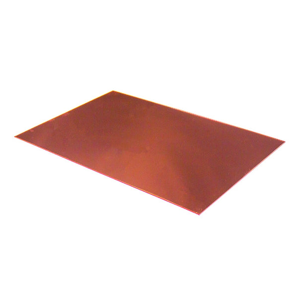 large 3mm rose gold mirrored acrylic sheet 600mm x 400mm