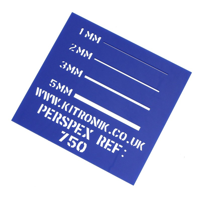 Perspex Sheet (Opaque) 5mm x 1000mm x 600mm